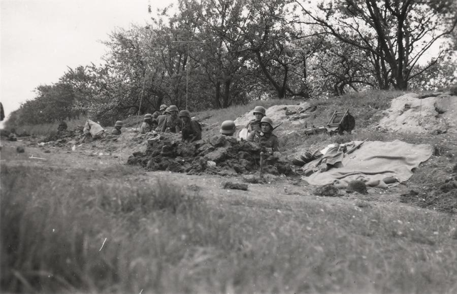 Duitse Wehrmacht bij de Grebbe op 12 of 13 mei 1940!