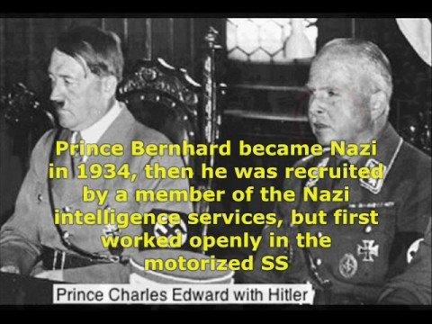 """Adolf Hitler en de adellijke """"Prinsen"""", zoals """"Prins"""" Bernhard, die Adolf Hitler de adellijke titel """"Hertog"""" aanboden, maar kanselier Hitler weigerde!"""