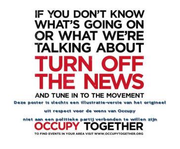 """De occupy beweging heeft het gelijk aan haar zijde, lees daarvoor bijvoorbeeld het boek """"De Schuldenberg""""!"""