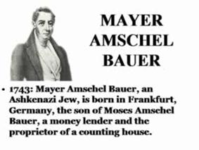 Mayer Amschel Bauer (Rothschild) uit Frankfurt en Hannover in Duitsland!